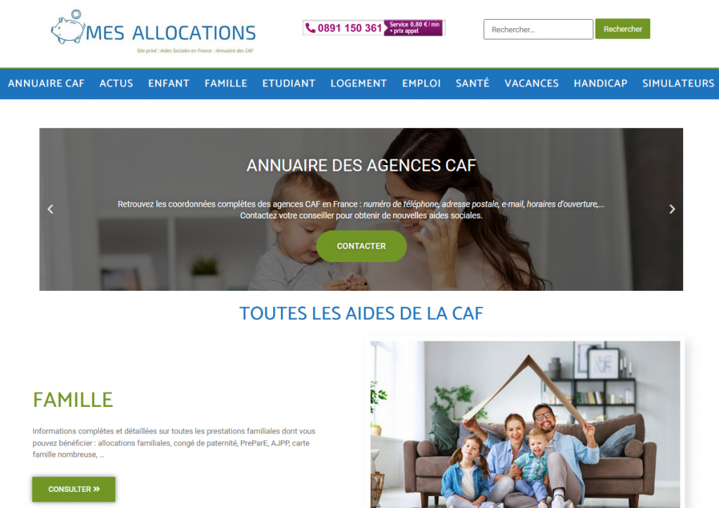 site internet mes allocations